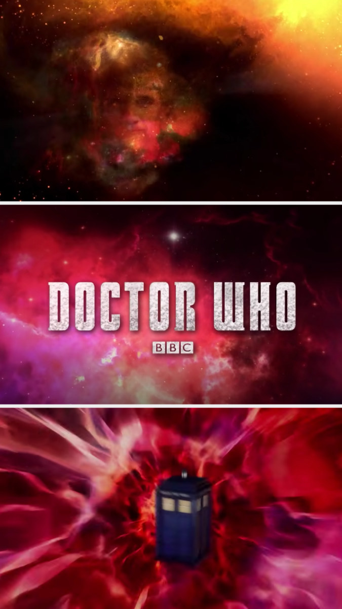 Matt Smith's face, the title, and the TARDIS