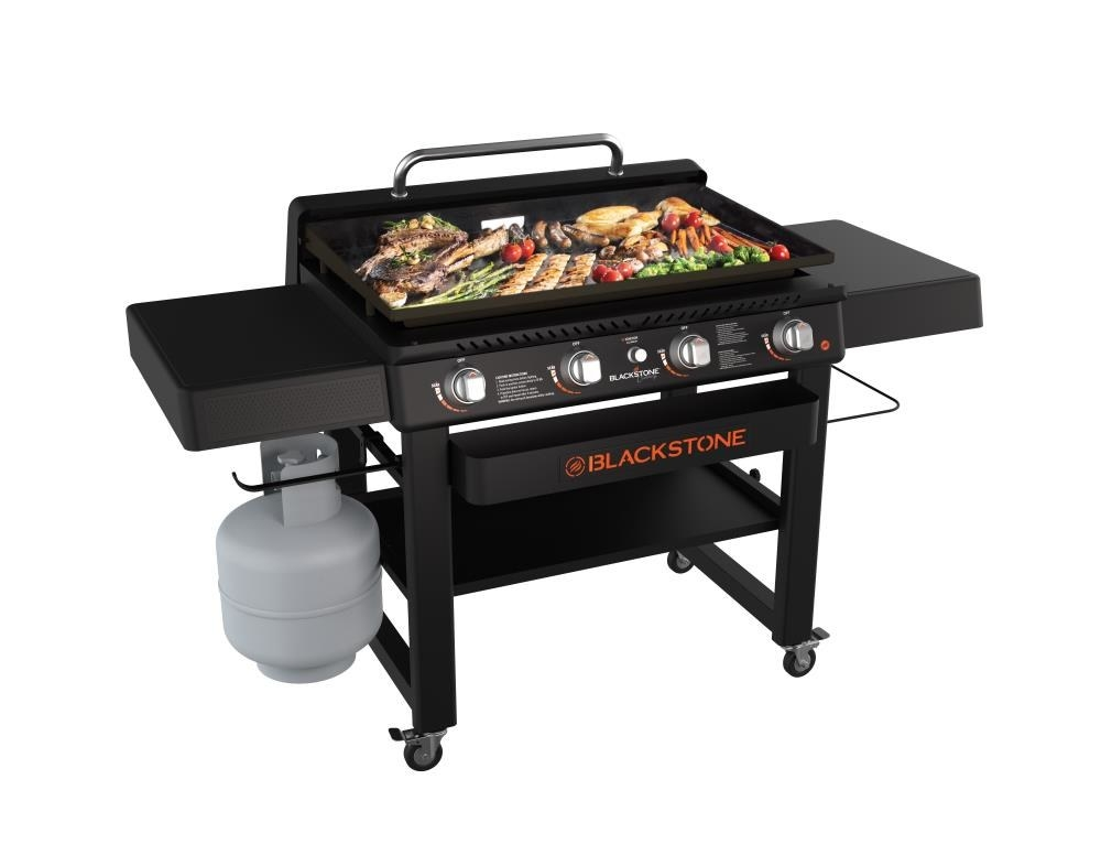 An image of a four-burner liquid propone flat top grill