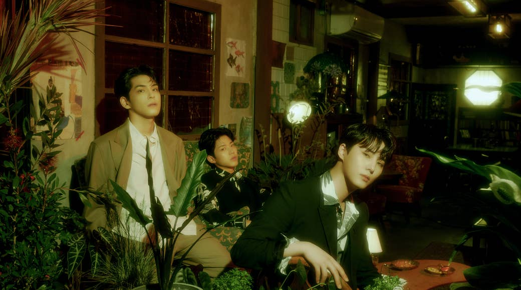 From left: Wonpil, Dowoon and Young K in concept photos for Right Through Me.