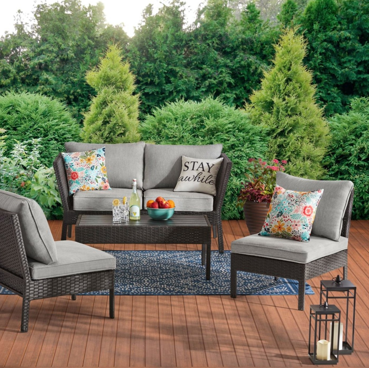 the four piece outdoor patio set