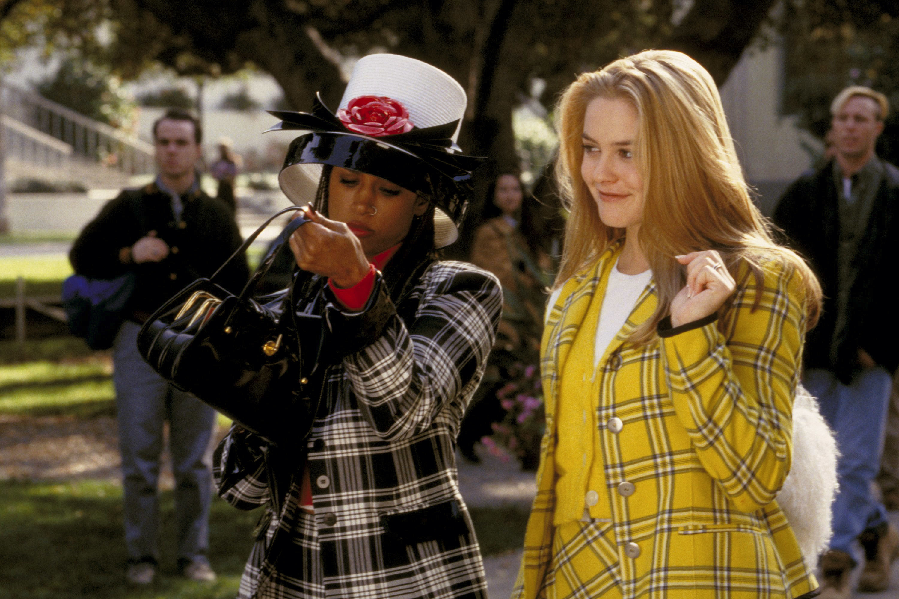 Cher and Dionne outside