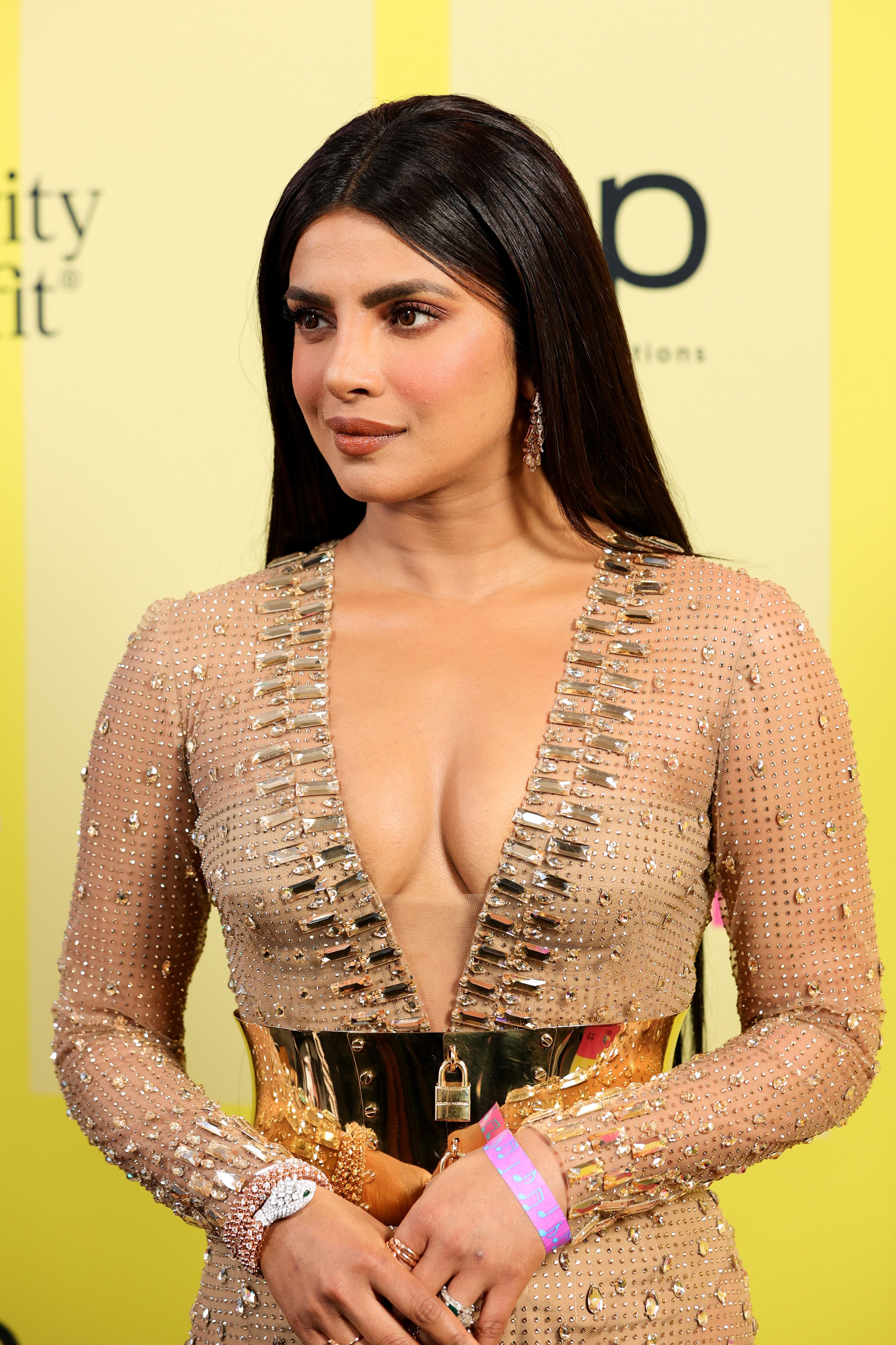 Priyanka Chopra is photographed at the 2021 Billboard Music Awards