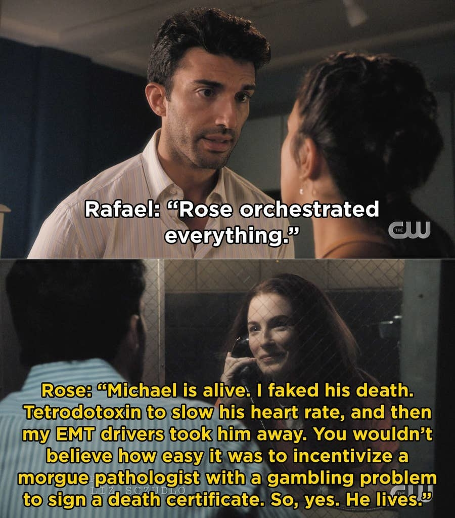 Rose explains how she faked Michael's death