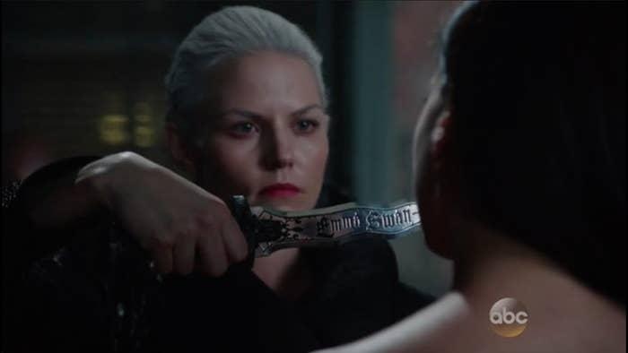 Emma as the Dark Swan
