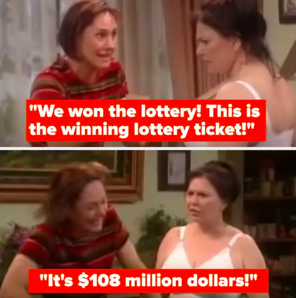 Roseanne says they won $108 million in the lottery