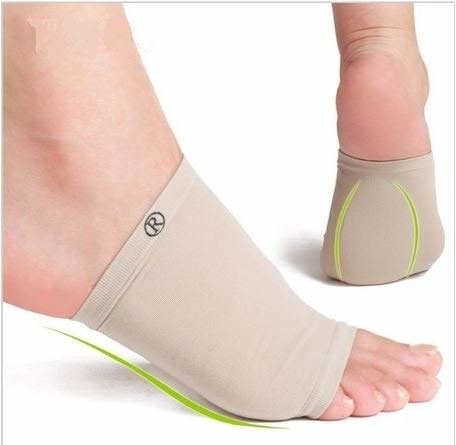 Feet wearing arch support