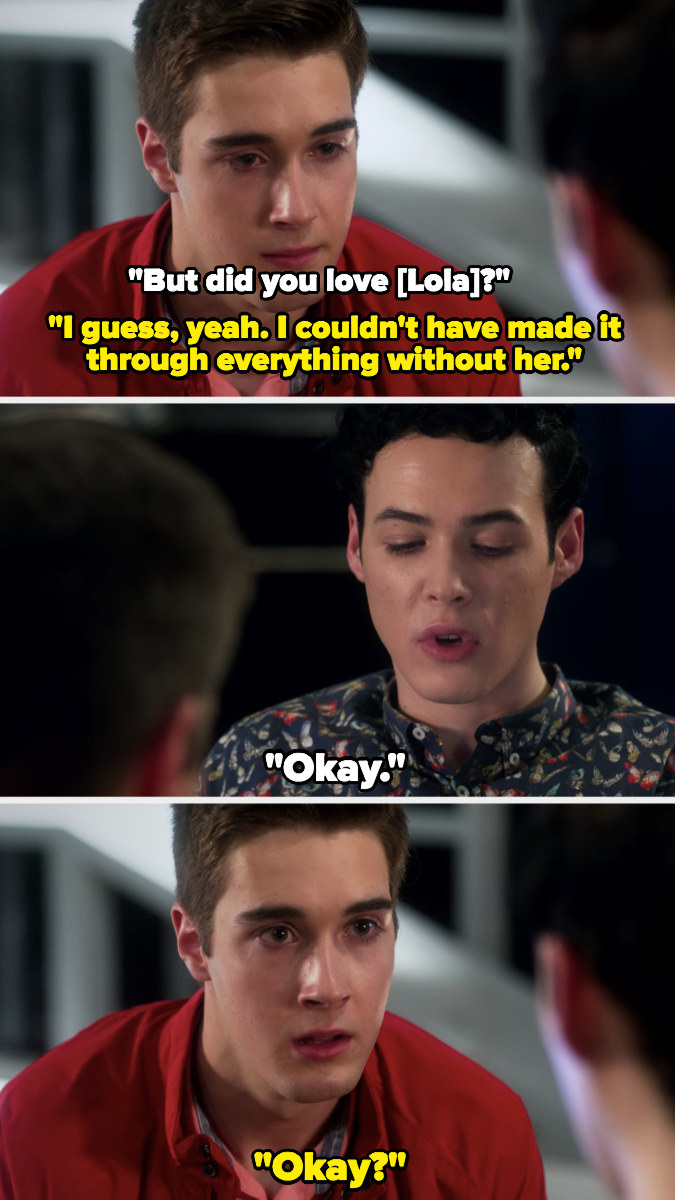 """Miles admits he loved Lola; Tristan just says """"okay"""""""