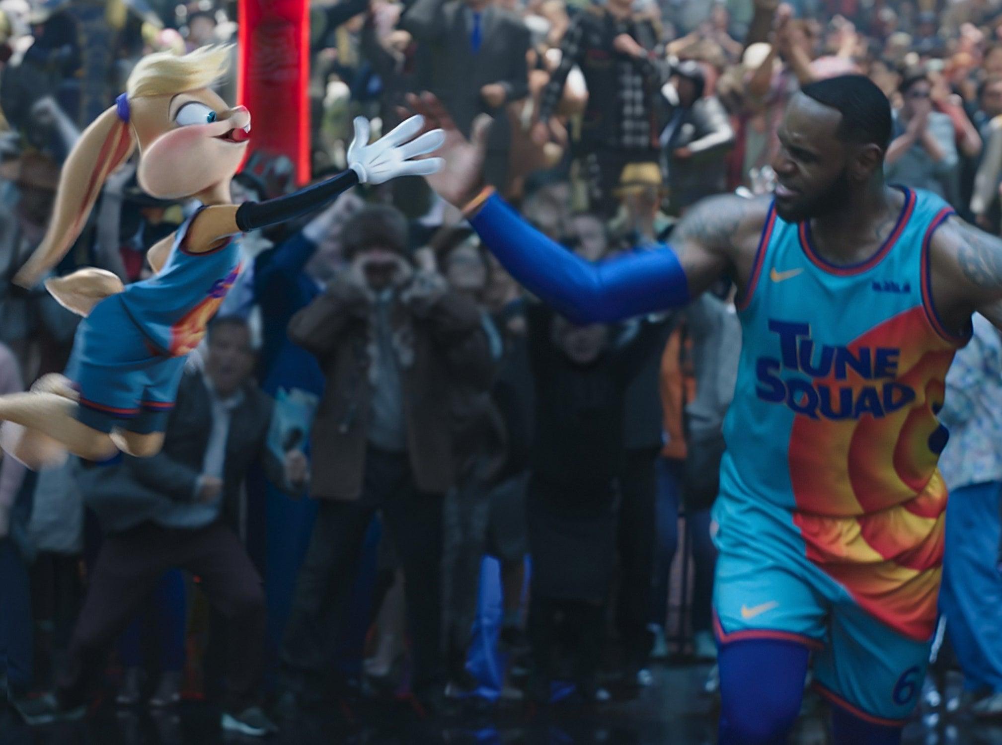 The new Lola high fives LeBron James