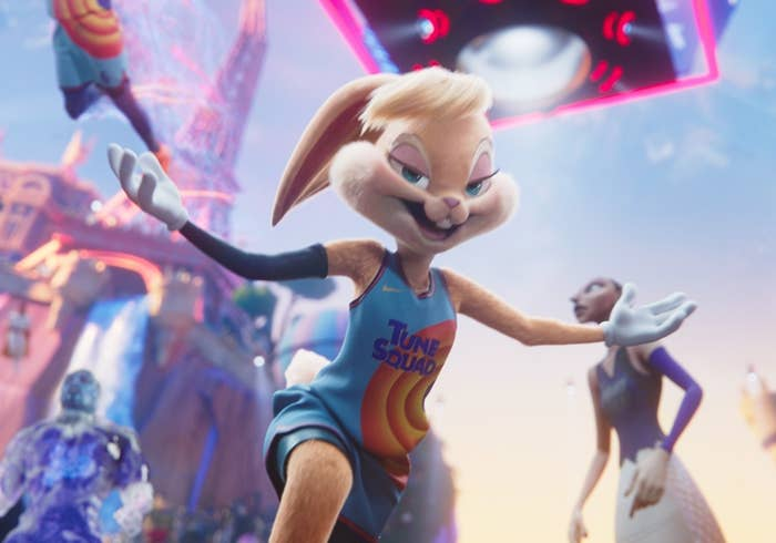 The new Lola wears a long basketball jersey and has smaller boobs than the original
