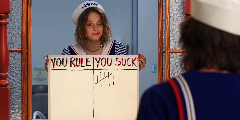 Maya Hawke as Robin on Stranger Things
