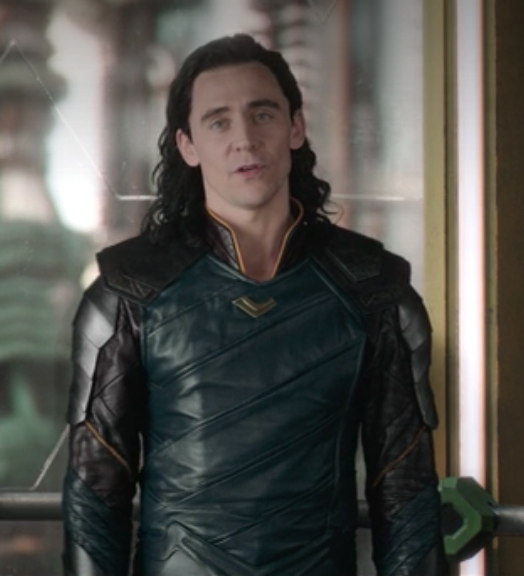Loki's leather outfit, made from leather, with many angled lines