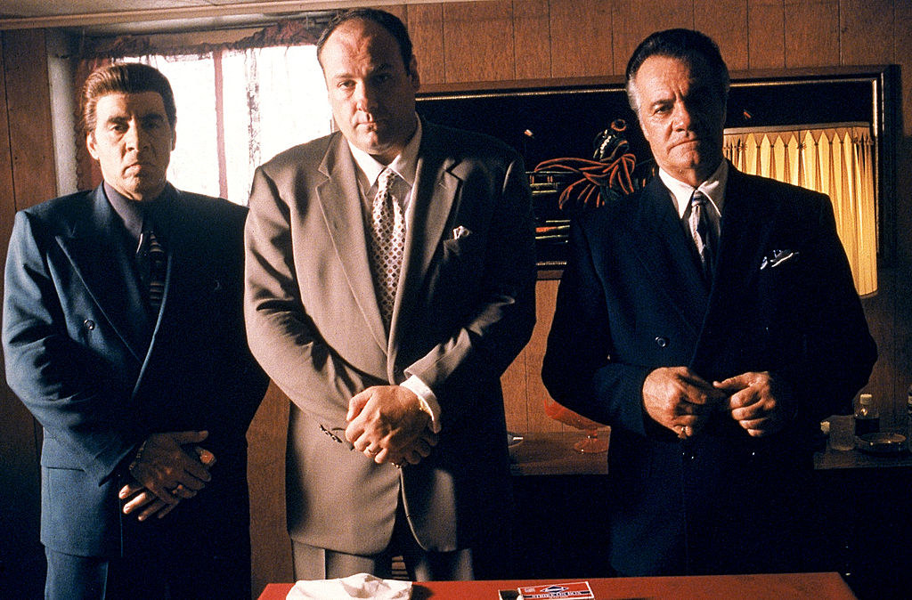 "(L to R) Steven Van Zandt as Silvio Dante, James Gandolfini as Tony Soprano, and Tony Sirico as Paulie Walnuts in ""The Sopranos"""