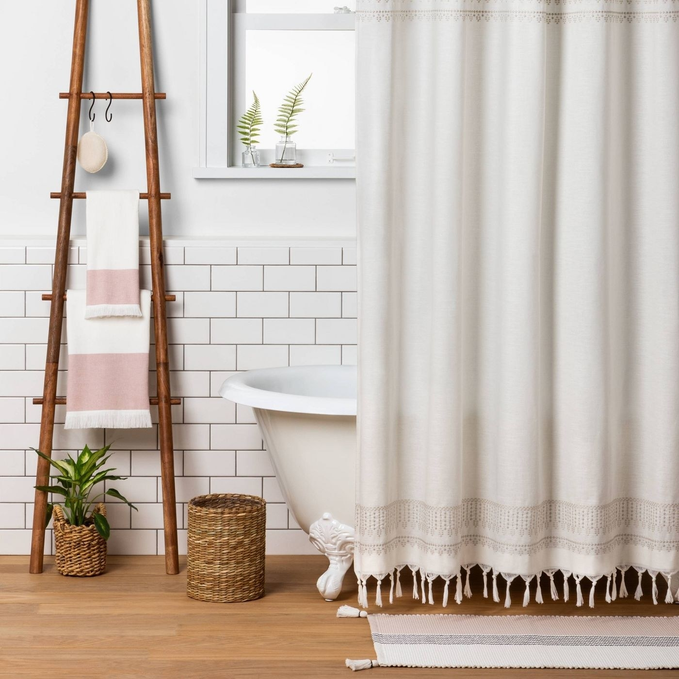 The decorative wood ladder