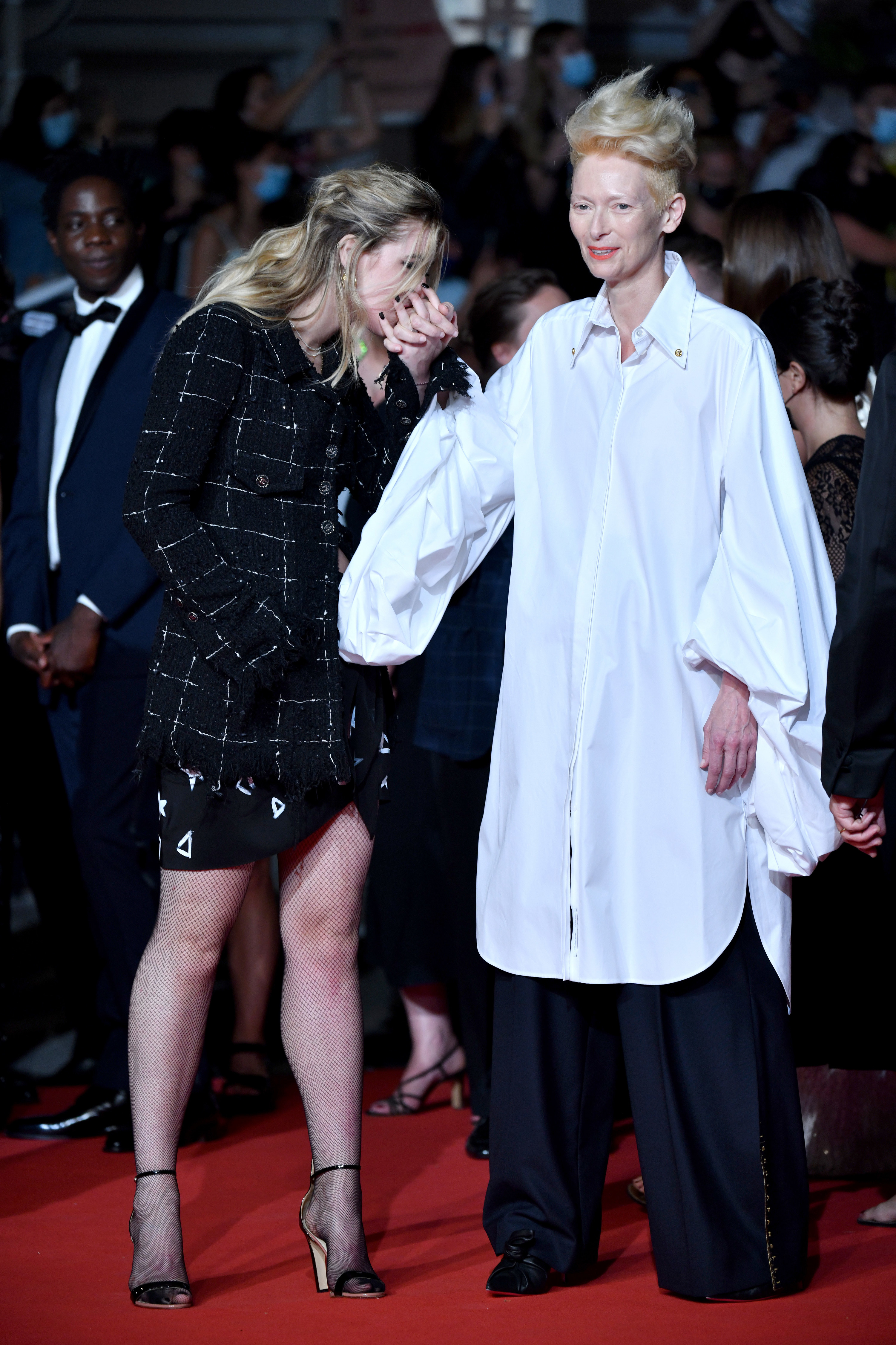 Honor Swinton Byrne and Tilda Swinton appear at the Cannes Film Festival