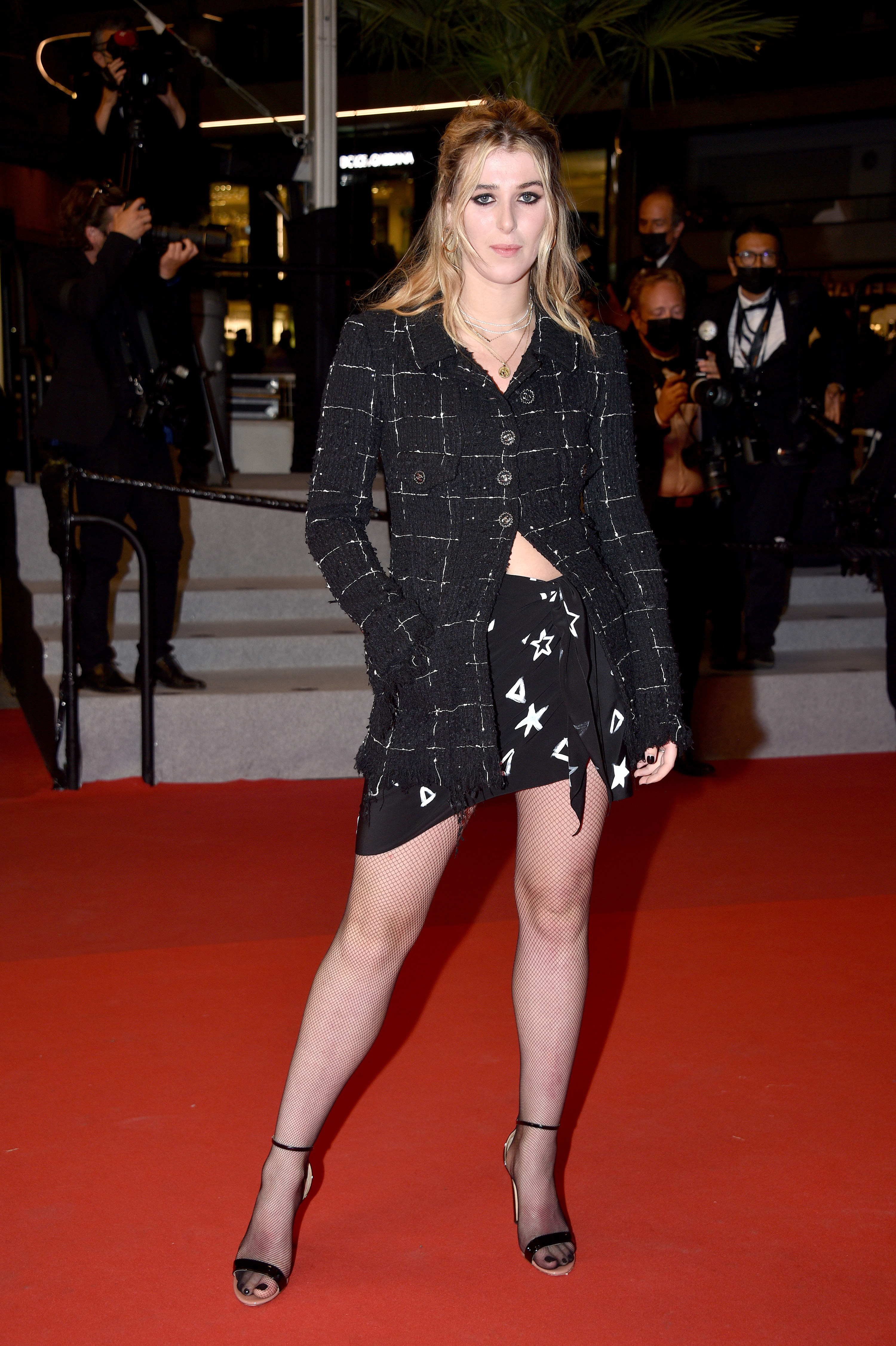 Honor Swinton Byrne appears at the Cannes Film Festival