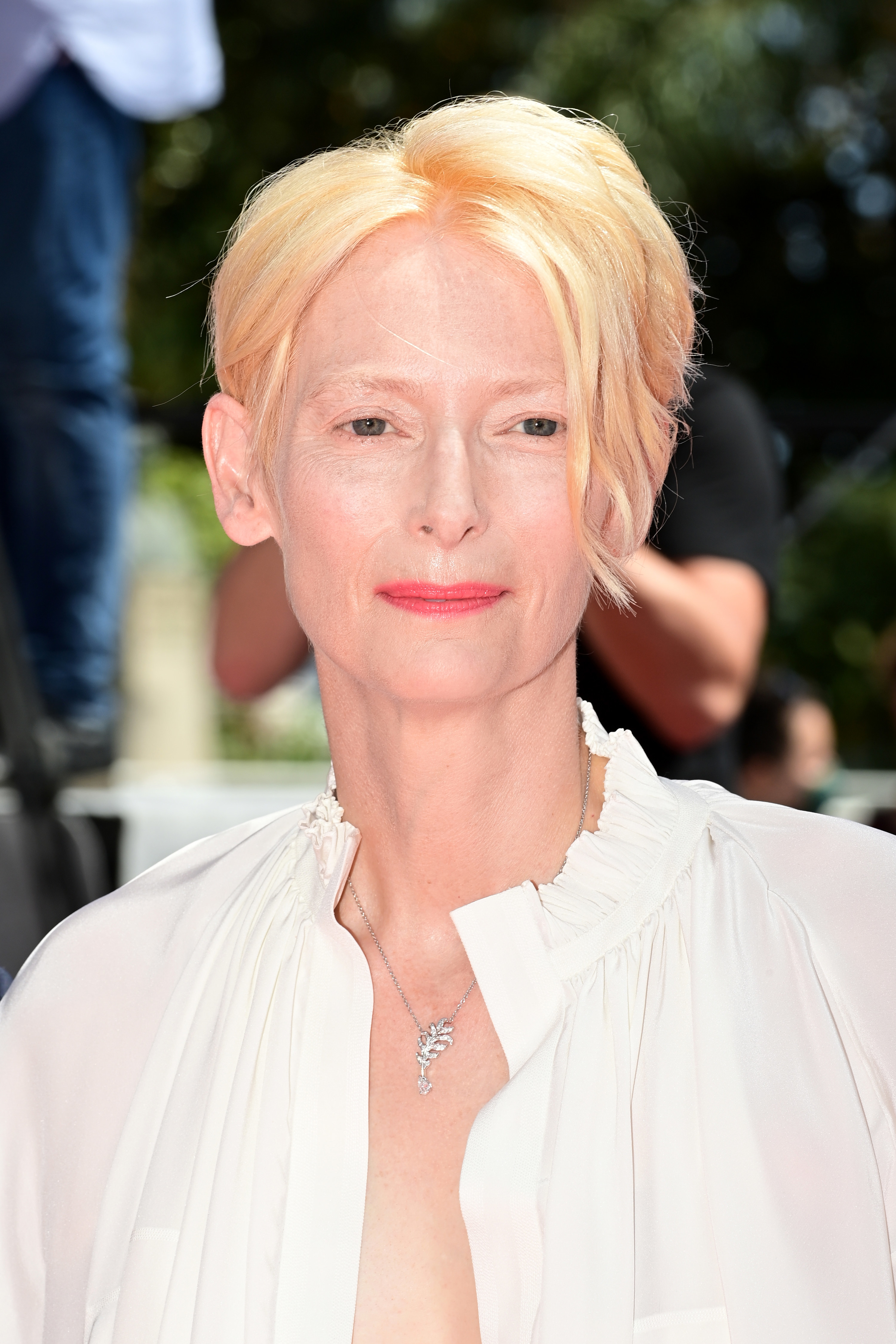 Tilda Swinton appears at the Cannes Film Festival