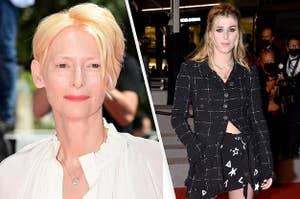 Tilda Swinton and her daughter are photographed at the Cannes Film Festival