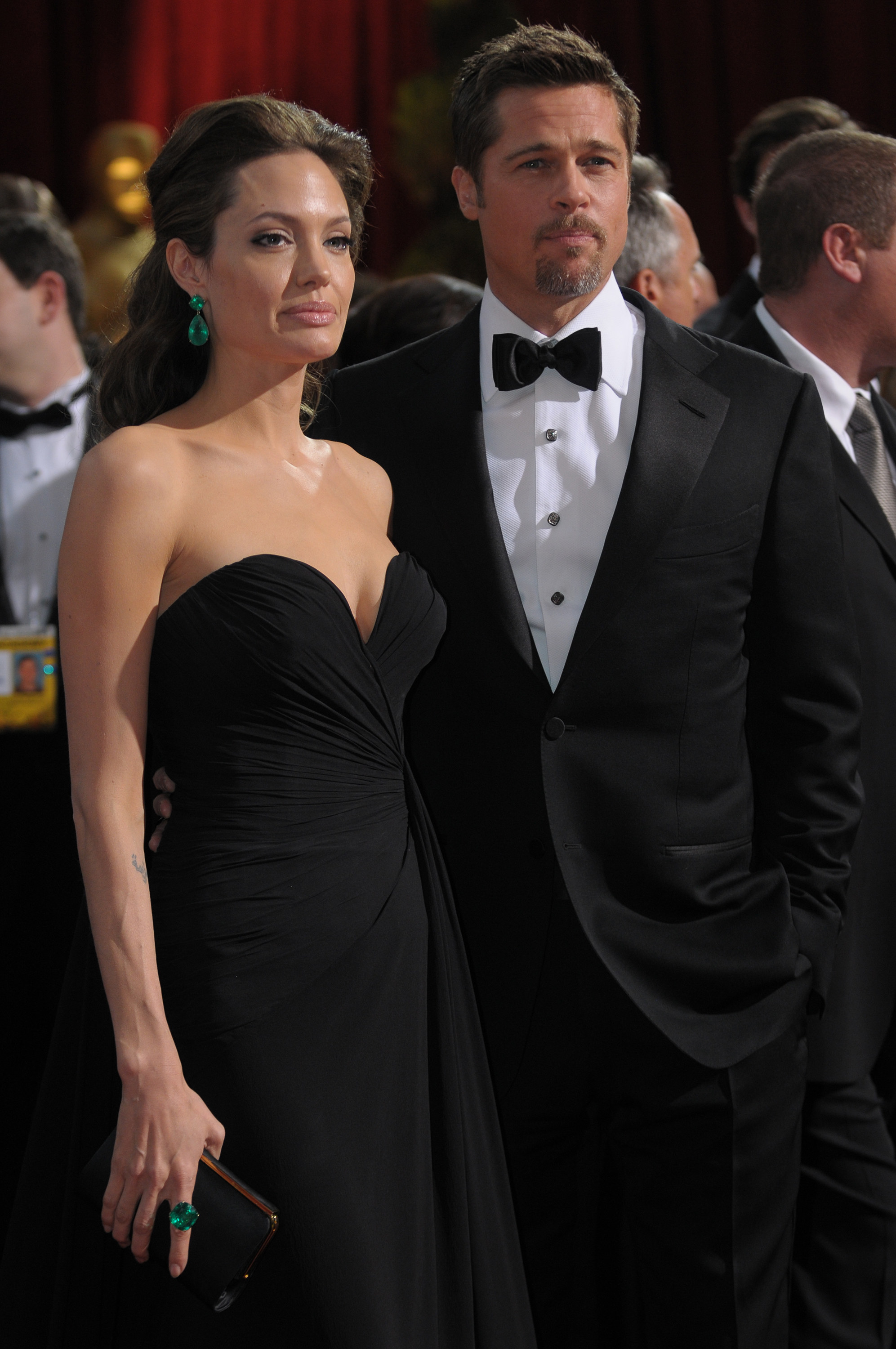 Angelina Jolie and Brad Pitt at a red carpet event
