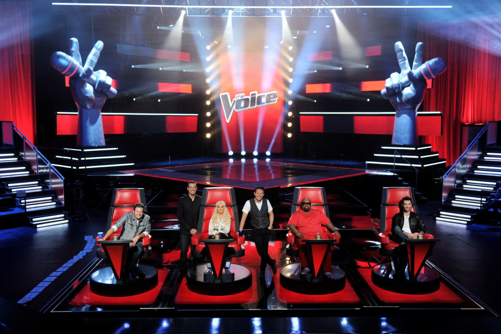 The voice stage and judges