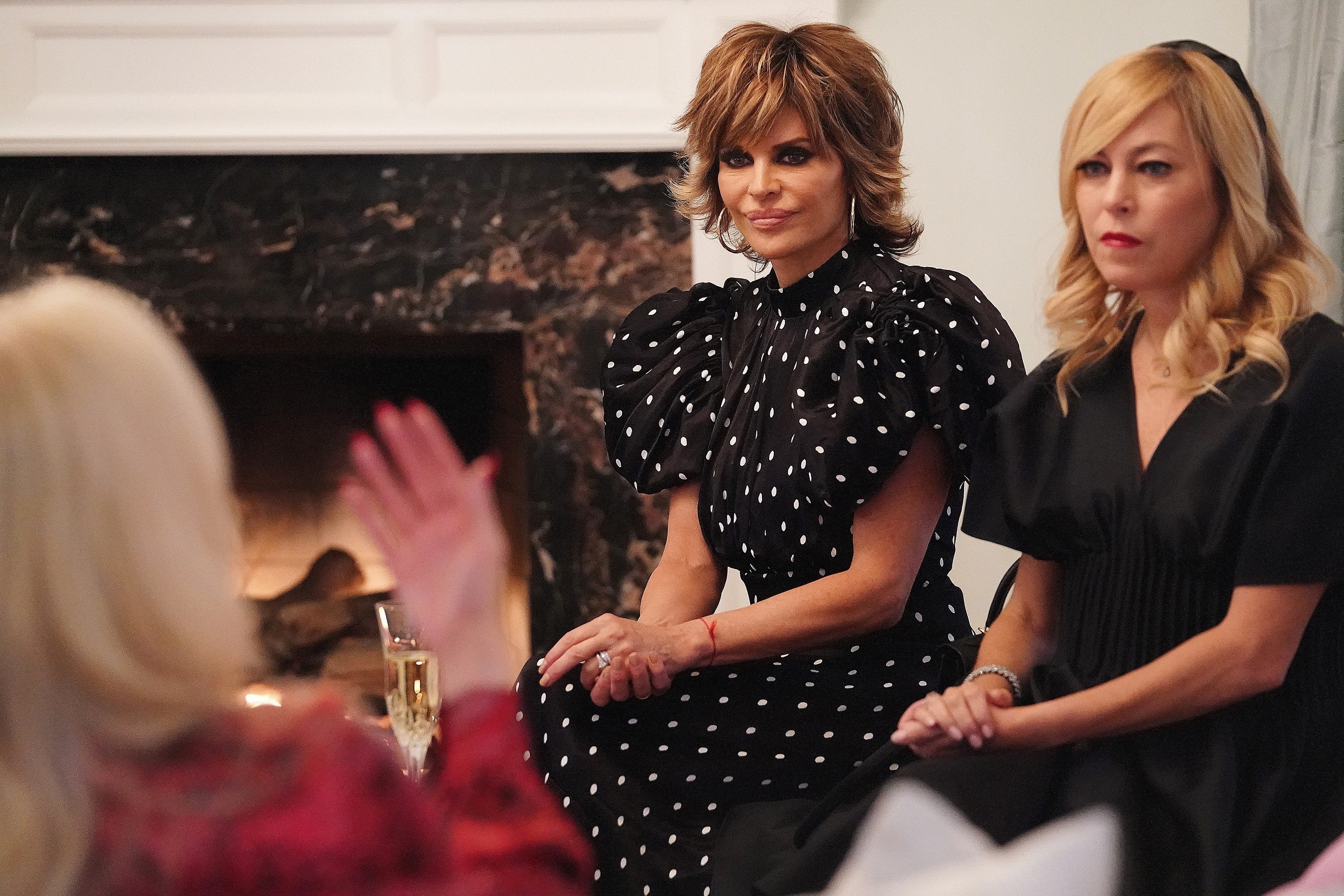 """Lisa Rinna and Sutton Stracke from """"The Divided States of Erika"""" episode"""