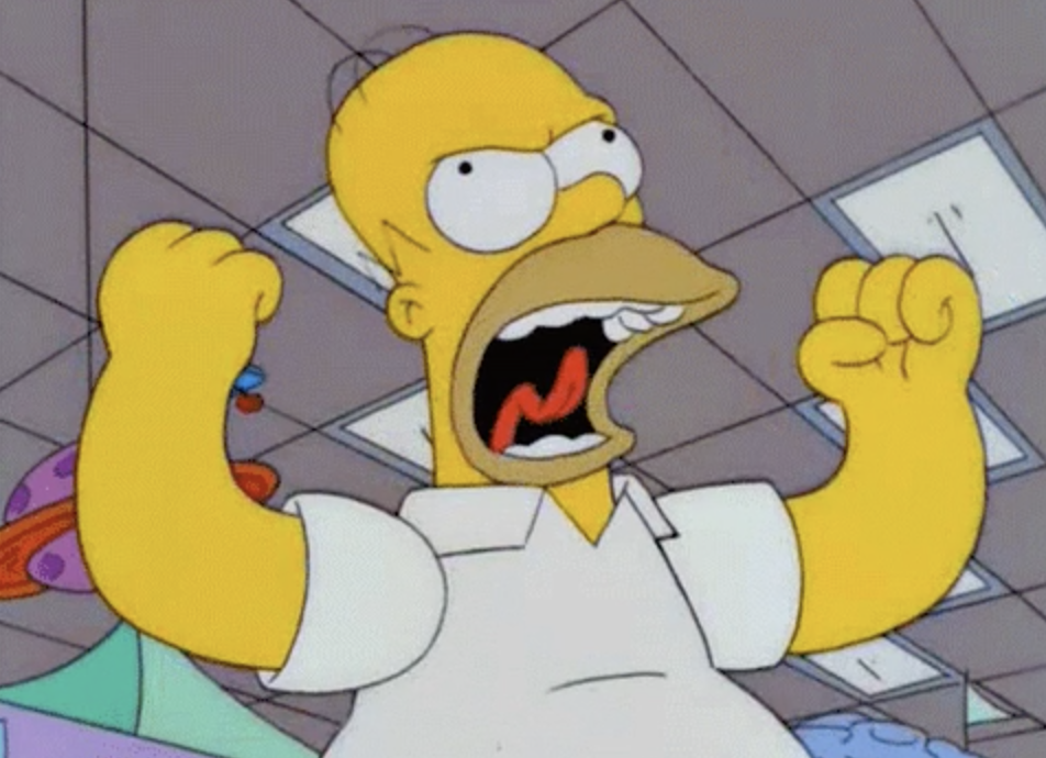 BartSimpson screaming