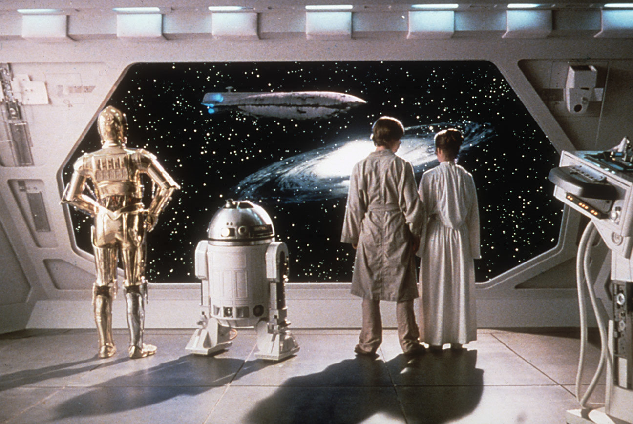 star wars characters staring out into space