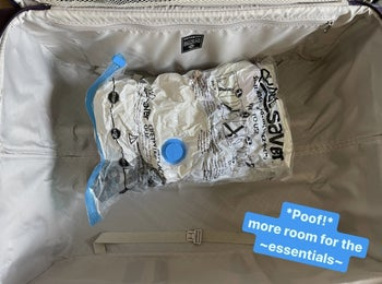 Same clothes now vacuum-sealed with text: