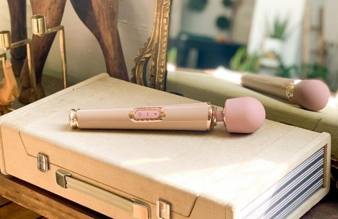 Pastel pink wand vibrator