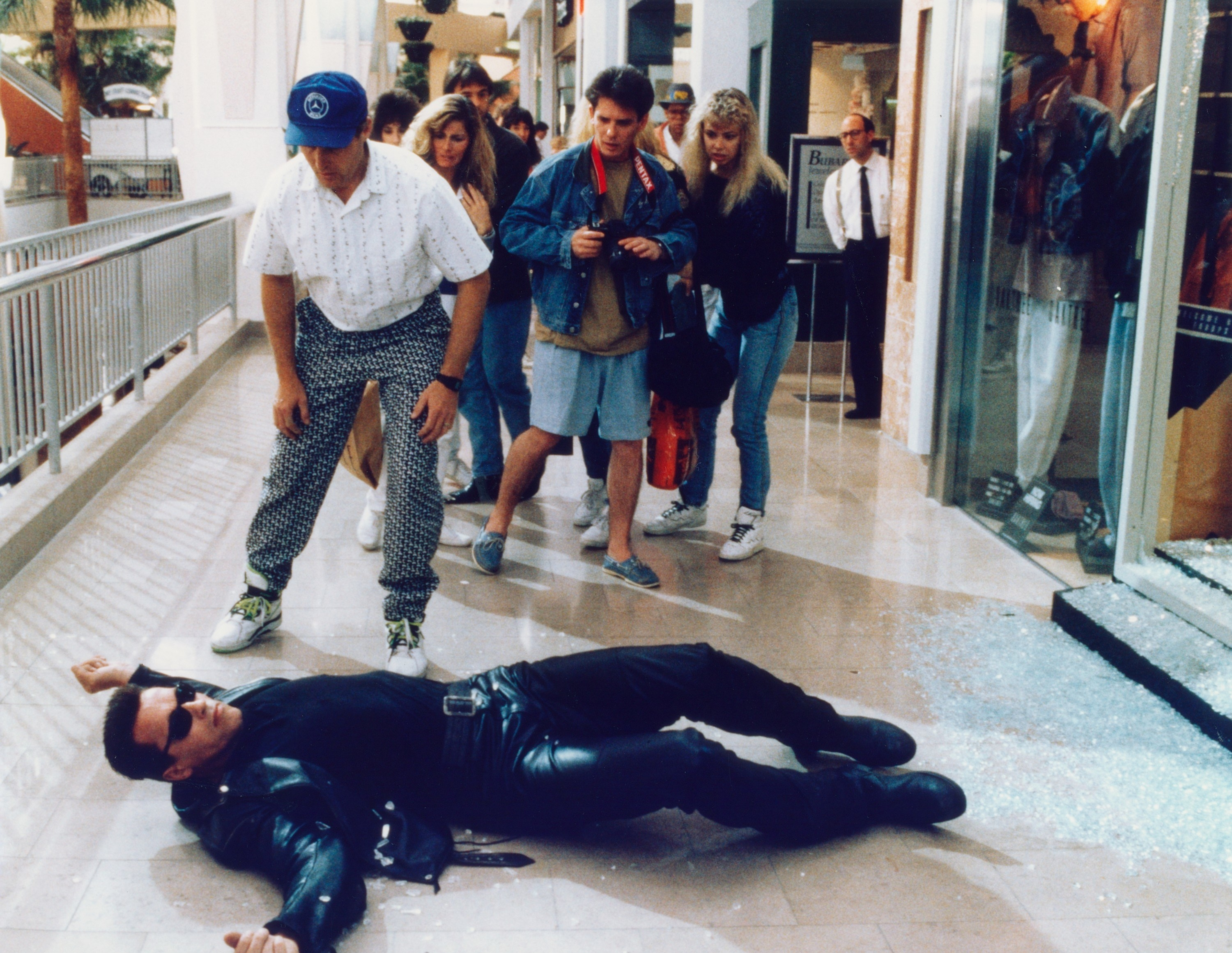 the terminator on the floor at a mall