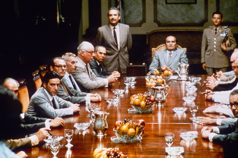 table full of men