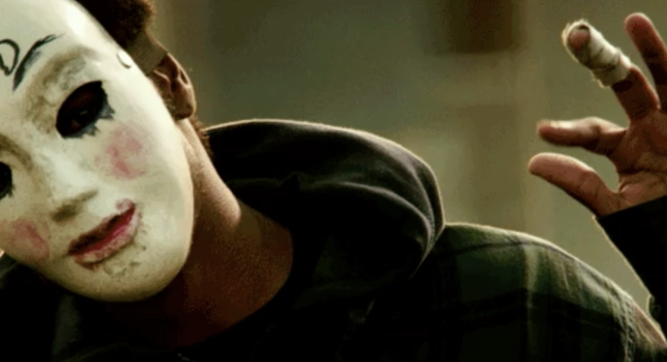 A man in a mask