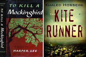 The book covers for To Kill a Mockingbird and The Kite Runner