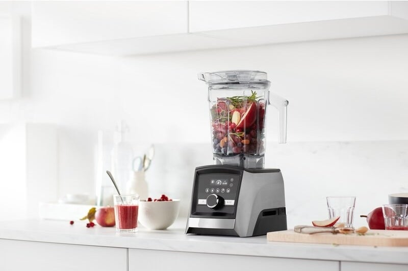 the fruit-filled blender on a counter