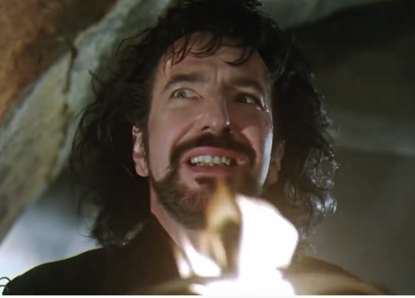 Rickman angry as the sheriff of nottingham in robin hood prince of thieves