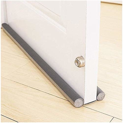 Door with draft stopper to reduce noise