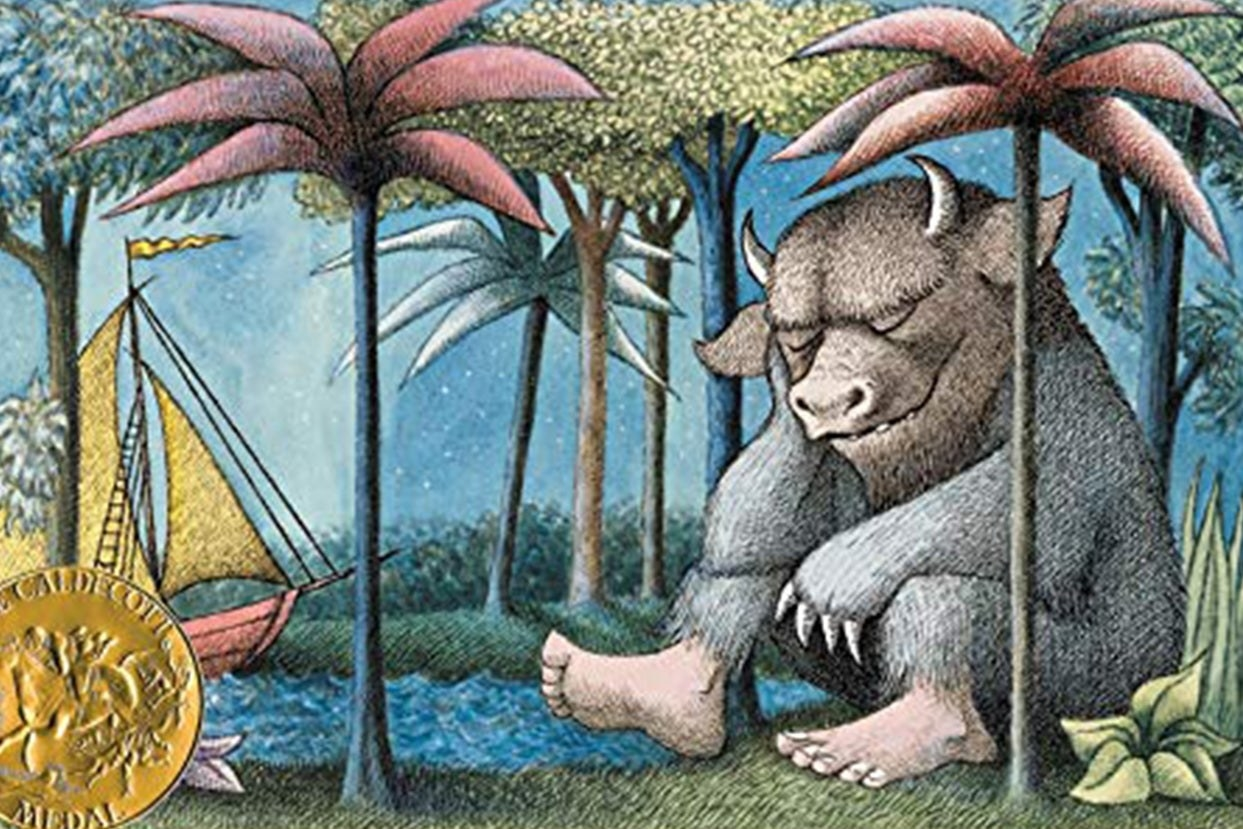 """""""Where the wild things are"""" book cover"""