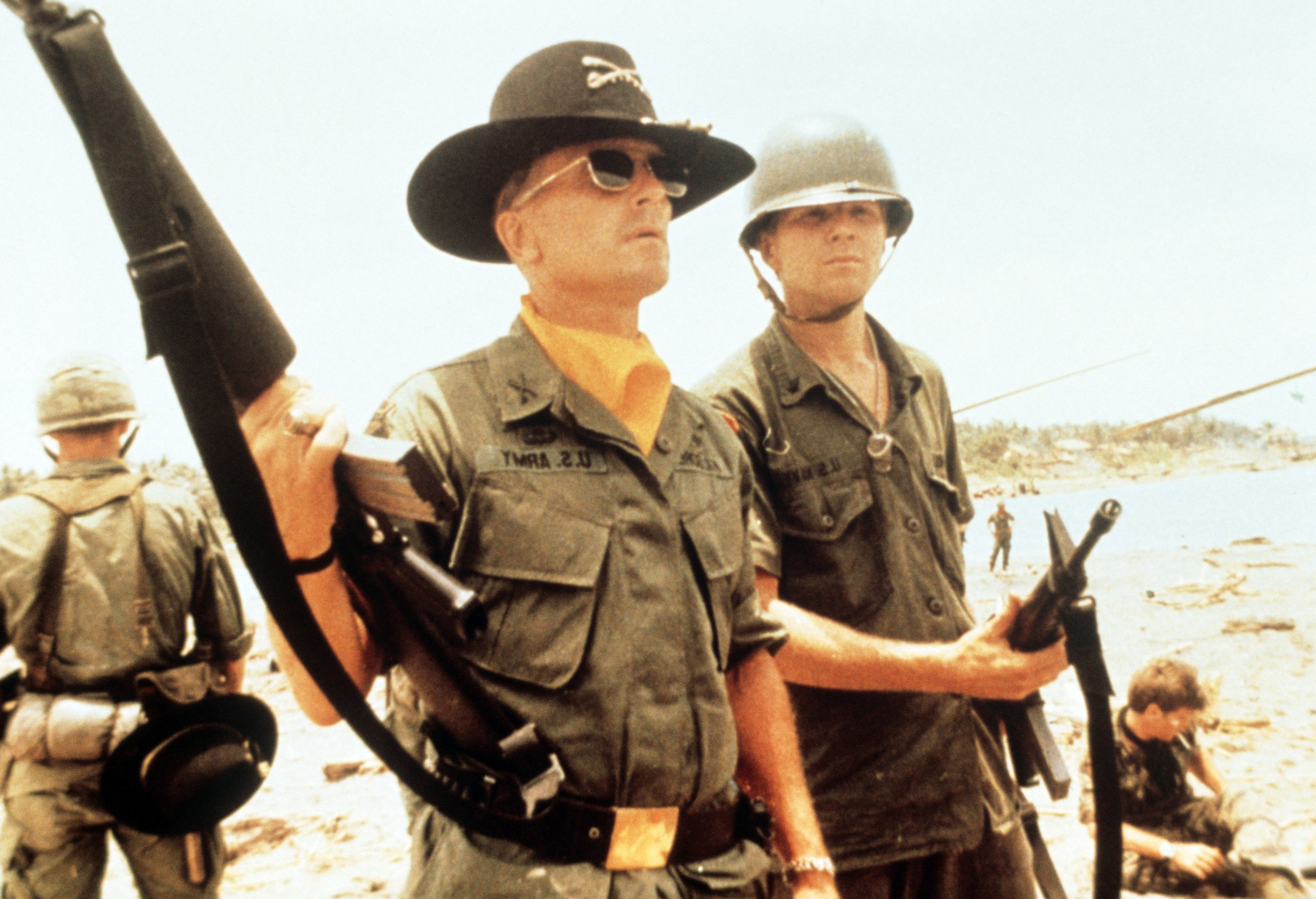 Robert Duvall as Lt Col Bill Kilgore and another soldier in the film