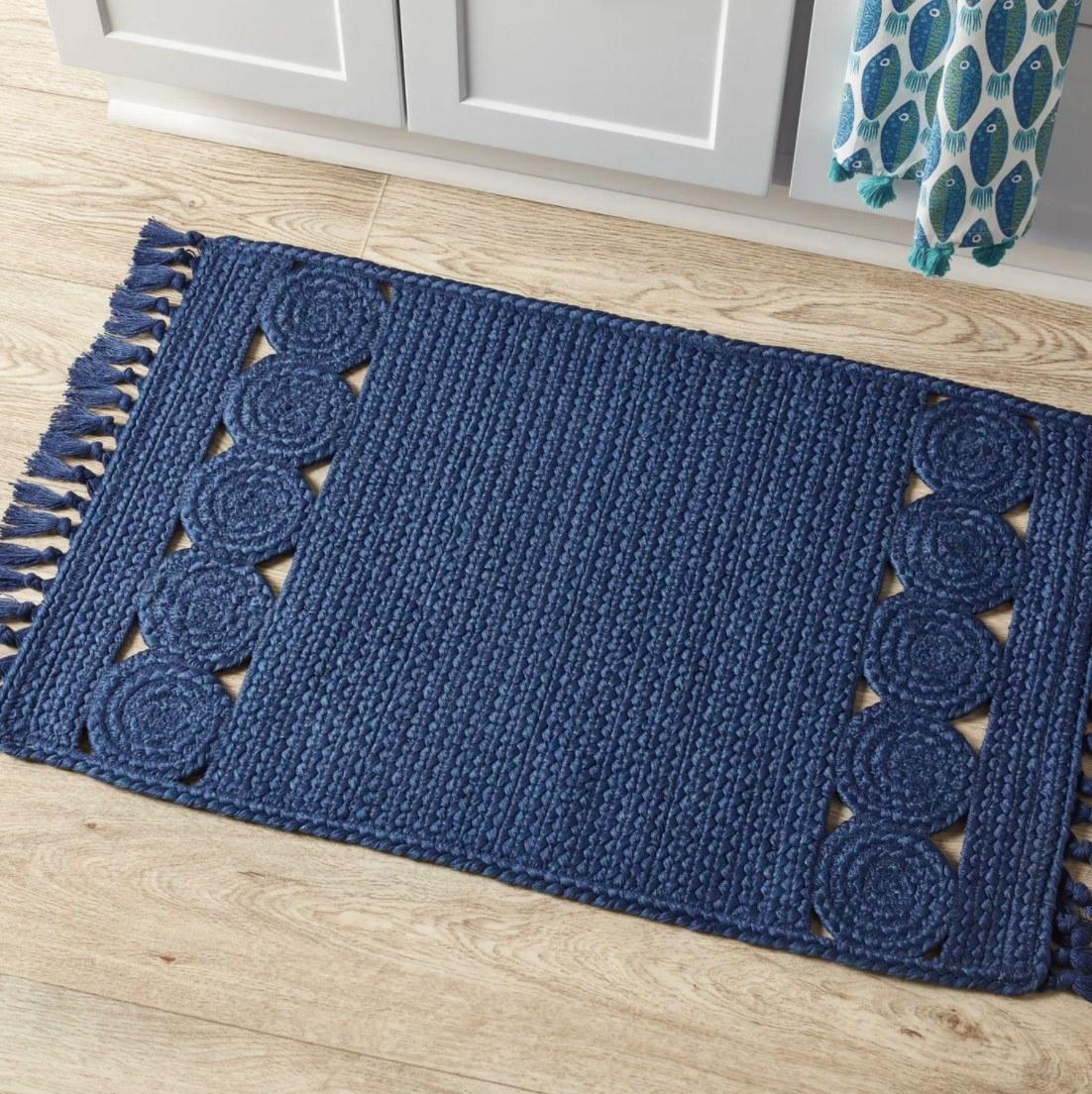 Kitchen rug on the floor