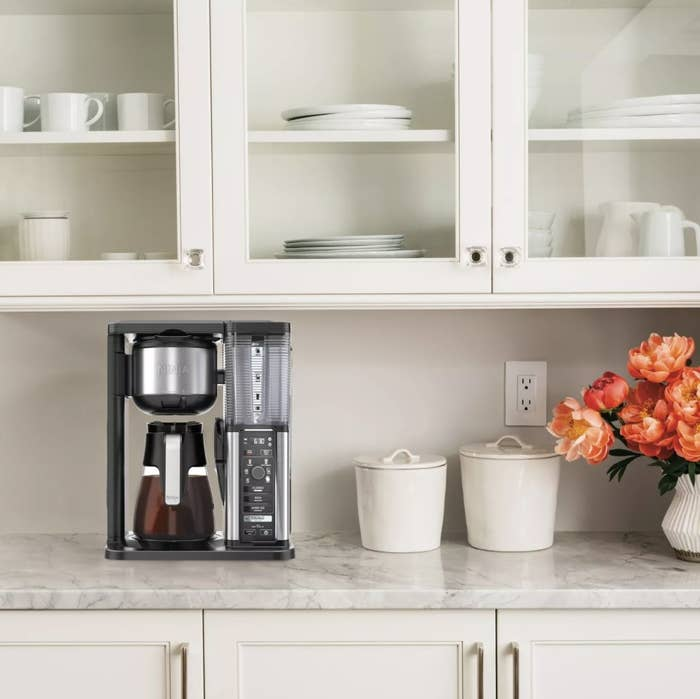 Gourmet coffee maker on counter top