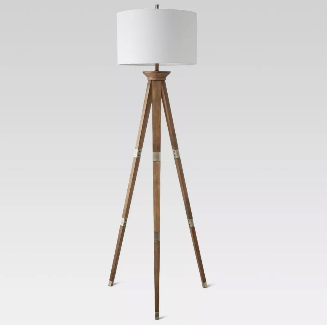 Three legged floor lamp