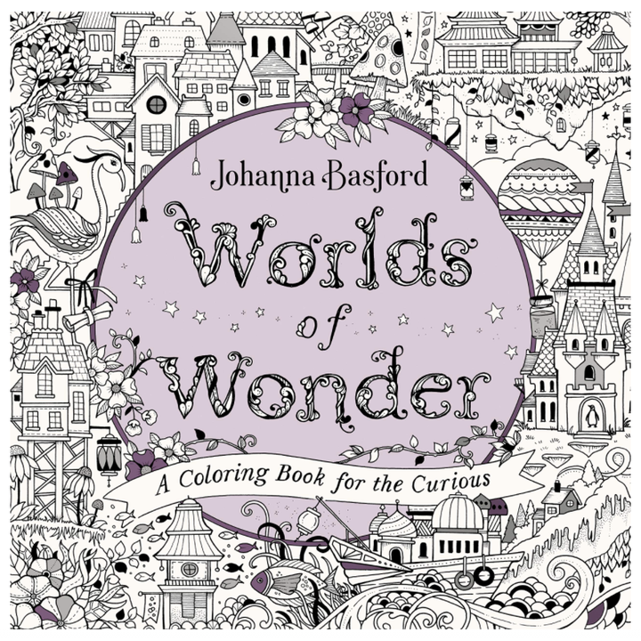 worlds of wonder coloring book cover