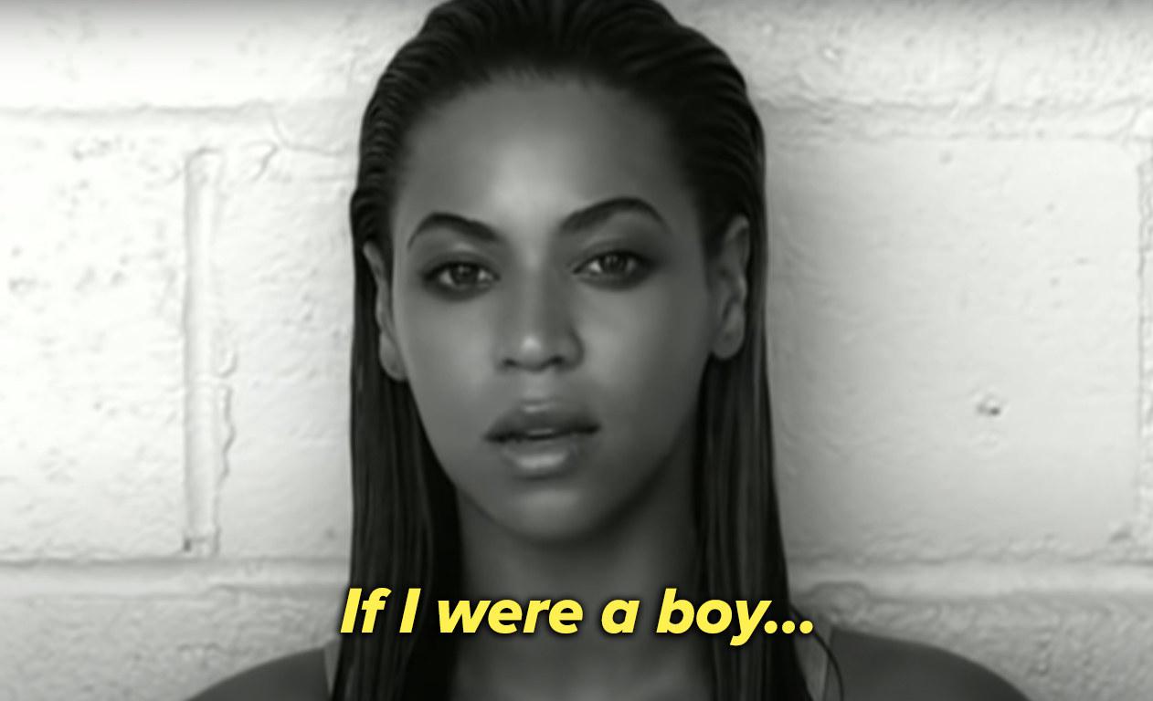 """Beyoncé sings, """"If I were a boy"""""""