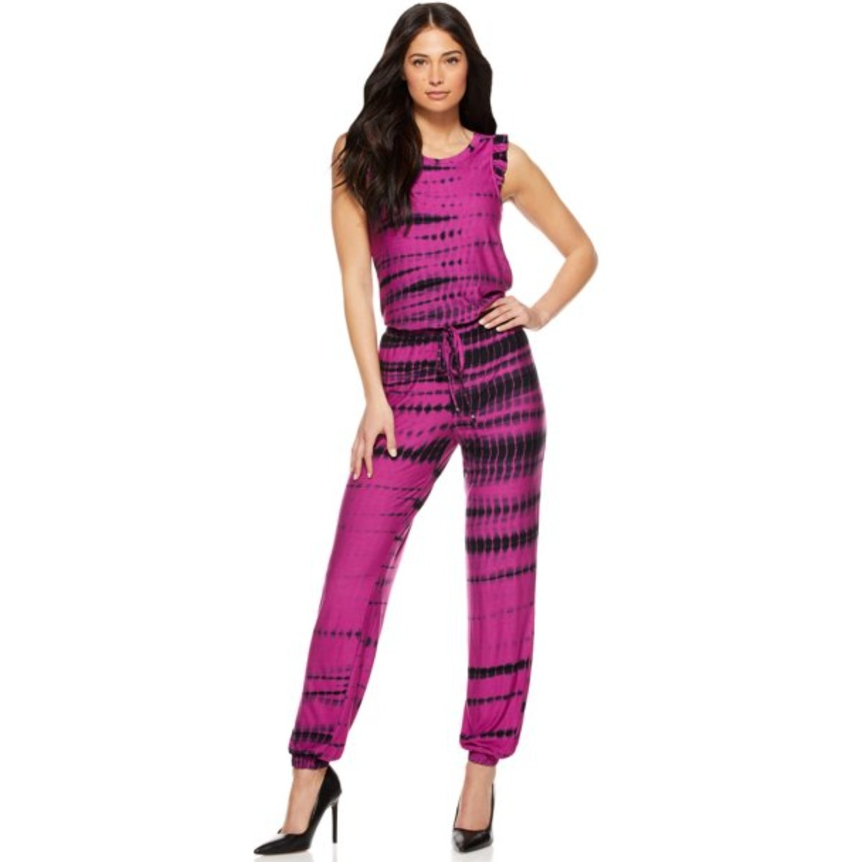 the jumpsuit inVivid Voila Tie Dye