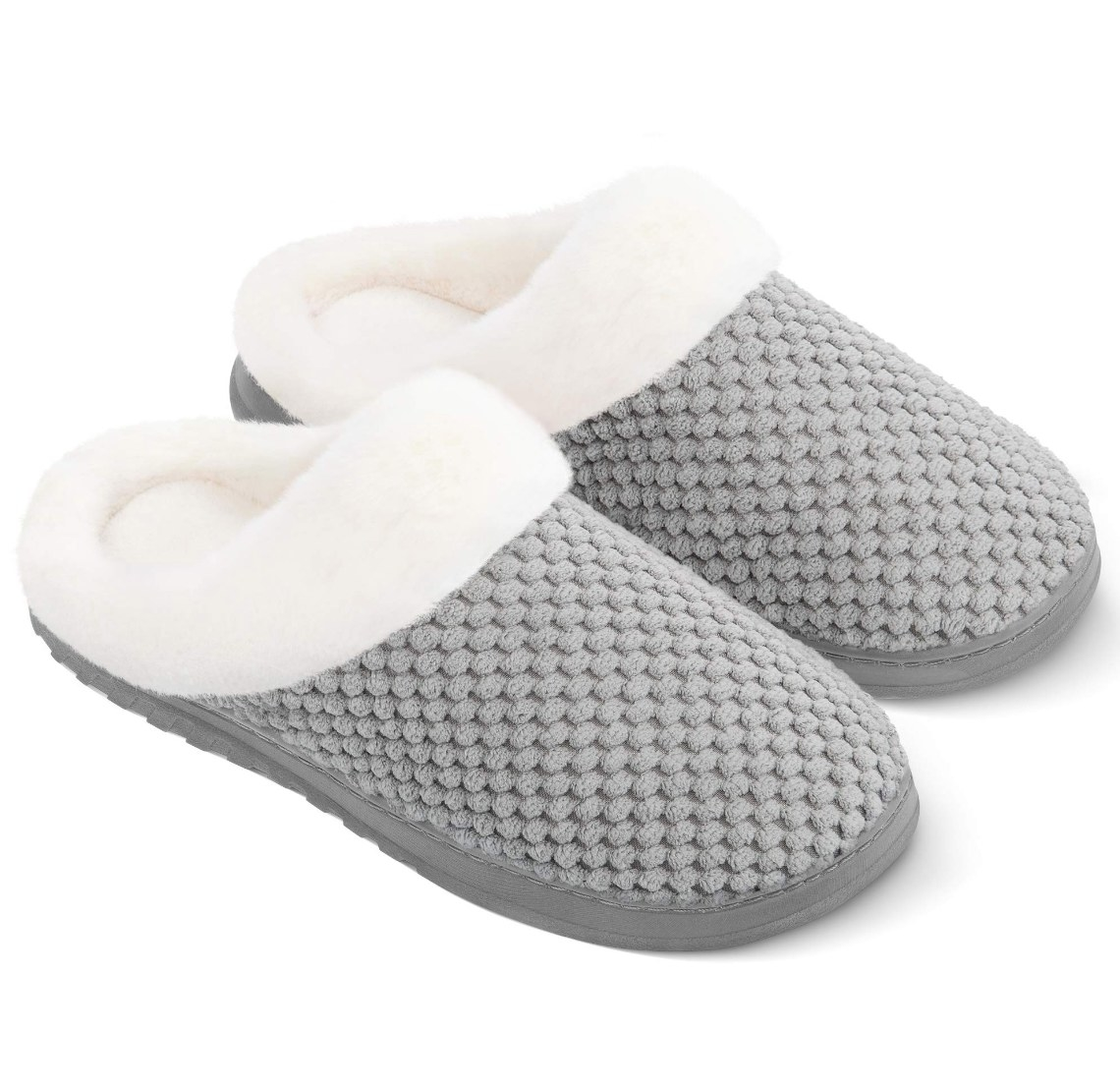 the slippers in gray