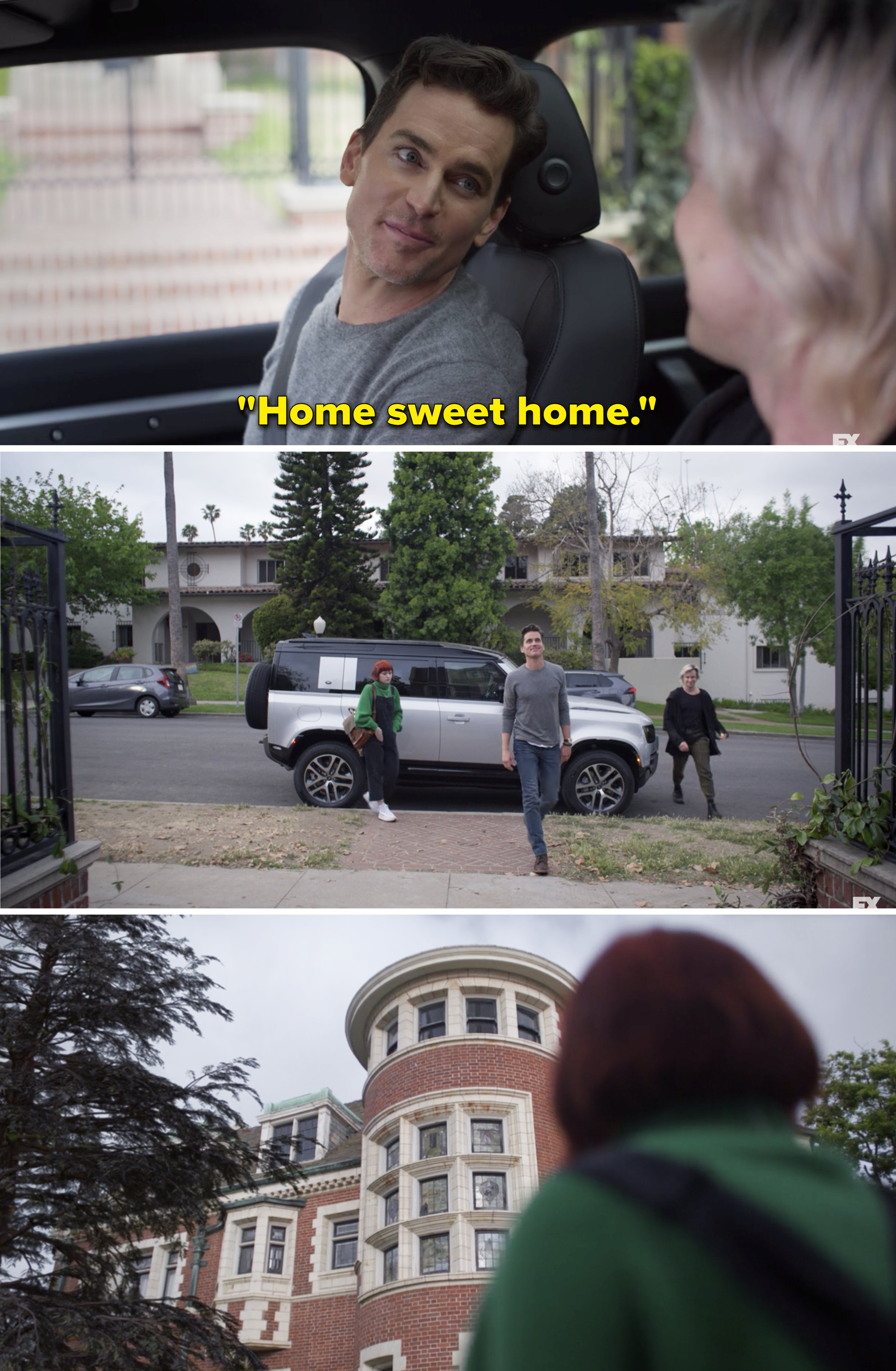 A new family pulling up to the Murder House from American Horror Story