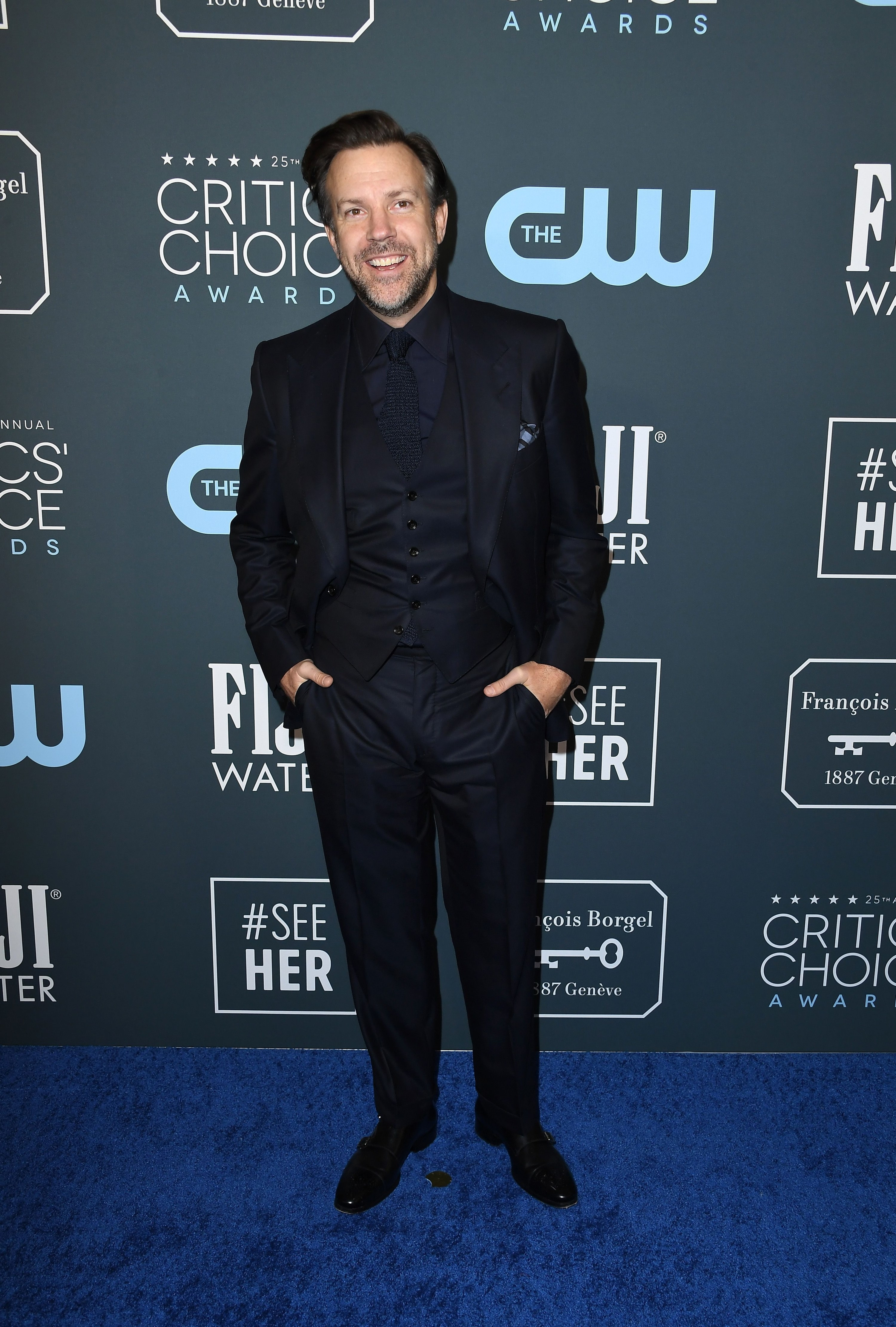 Jason in a suit at the 25th Critics Choice Awards