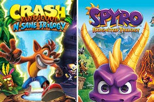 The game covers for Crash Bandicoot N Sane Trilogy and Spyro Reignited Trilogy