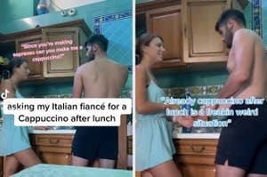 her italian boyfriend is freaking out because she wants a cappuccino after lunch