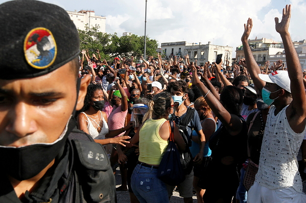 This Is What The Historic Anti-Government Protests In Cuba Look Like