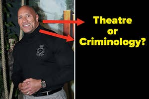 Did The Rock study Theatre or Criminology